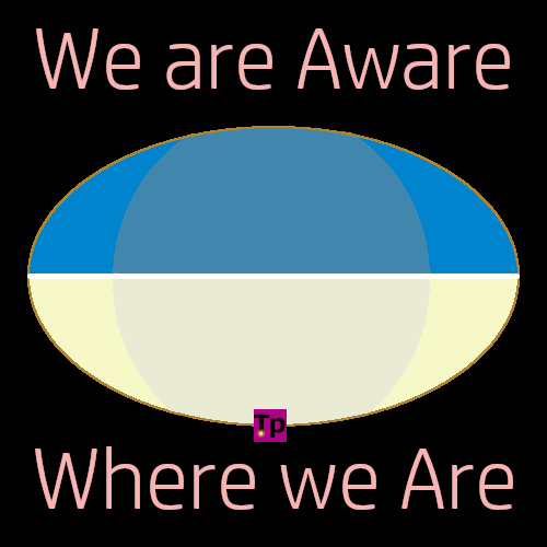 meme intro of desert landscape saying, we are aware - where we are.